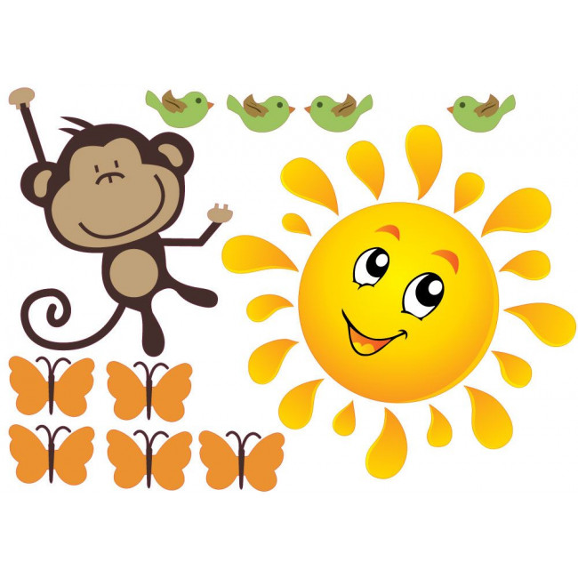 Kids wall stickers Monkeys Joy, additional
