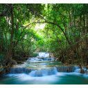Deep forest waterfalls,  φωτογραφική ταπετσαρία