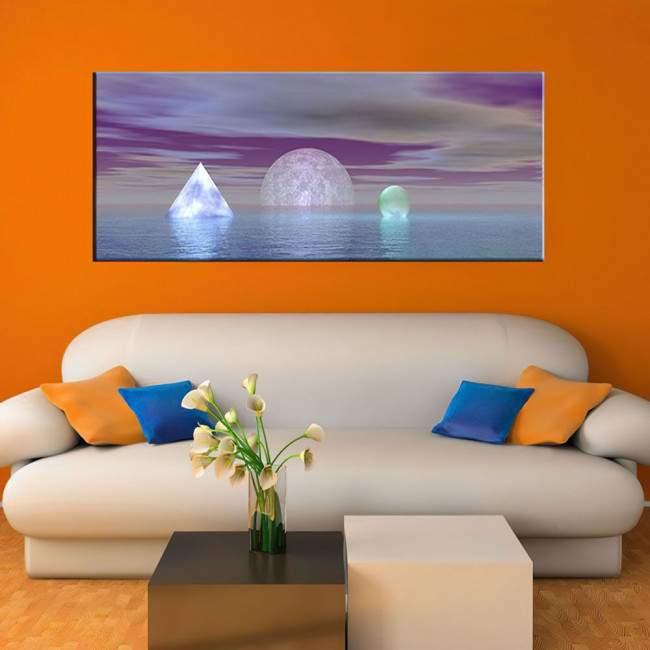 Πίνακας σε καμβά Abstract, πανοραμικός