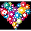 Στα γρανάζια της καρδιάς, Αυτοκόλλητο τοίχου, κοντινό