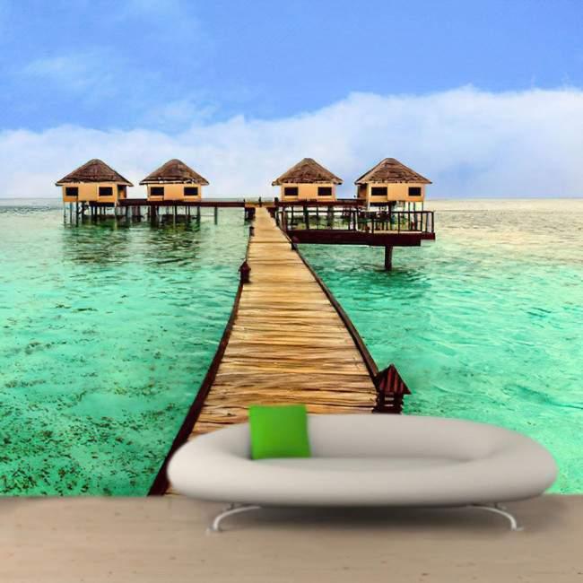 Wallpaper Exotic sea house