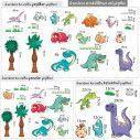 Αυτοκόλλητα τοίχου, Δεινόσαυροι, Happy Dinos