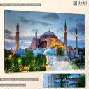 Canvas print Hagia Sophia in sunset, side