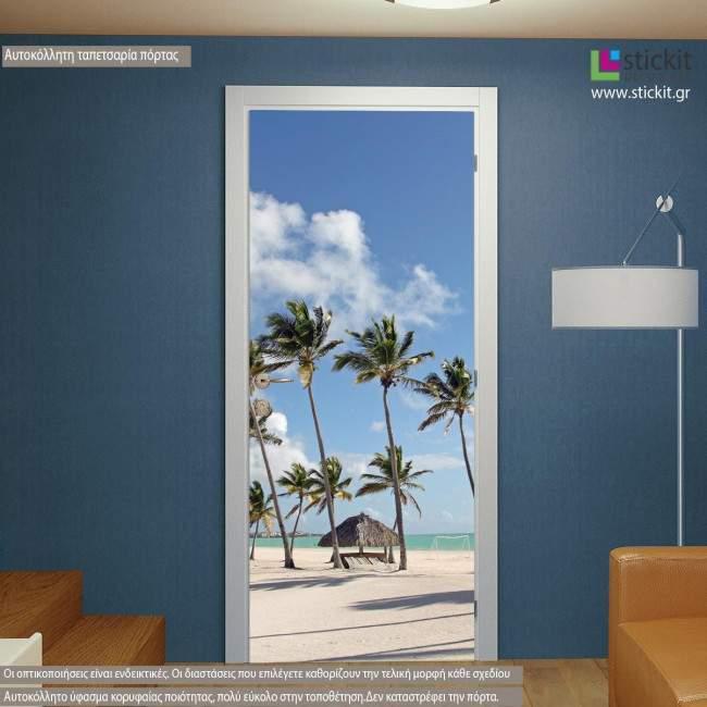 Door sticker Dream beach