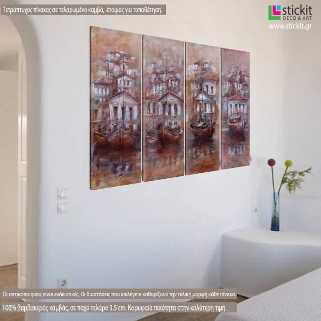 Canvas print From Alexandroupoli to Kastelorizo, four panels