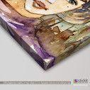 Girl watercolor,  πίνακας σε καμβά, λεπτομέρεια