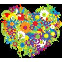 Wall stickers Flower heart