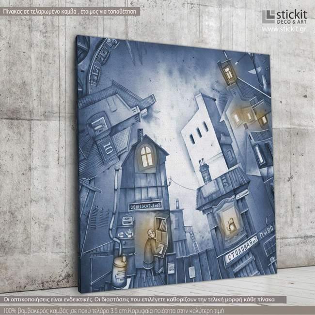 Canvas print Town quarter