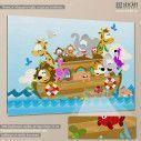 Kids canvas print Noah's ark