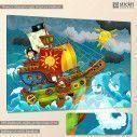 Kids canvas print Little pirates