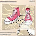 Πίνακας σε καμβά Sneaker art