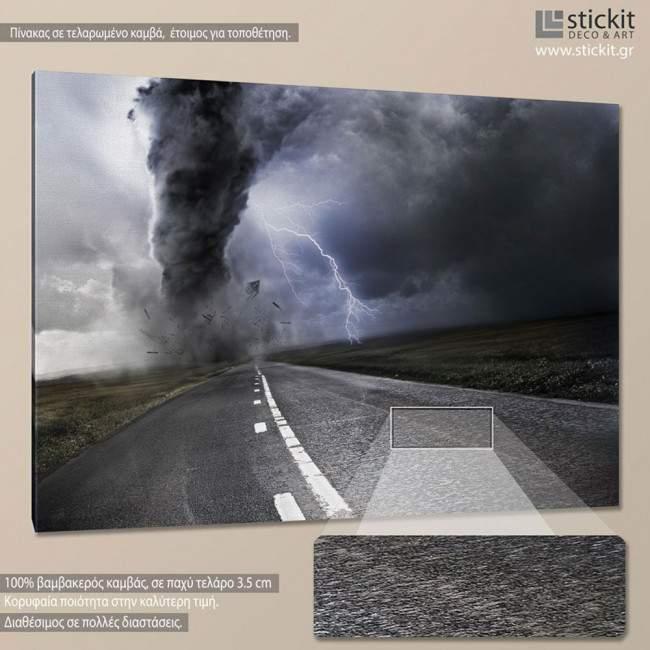Canvas print Powerful tornado