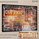 Πίνακας σε καμβά Coffee typography