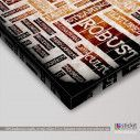 Canvas print Coffee typography, side