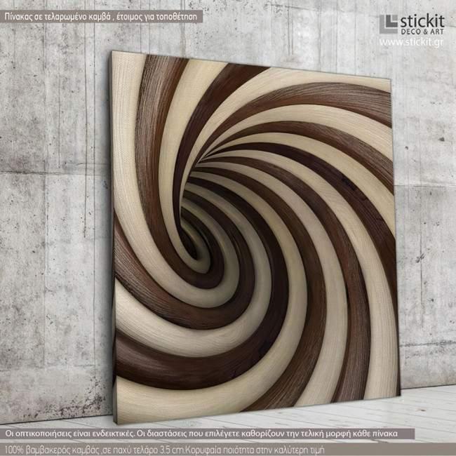 Canvas print Cream and chocolate