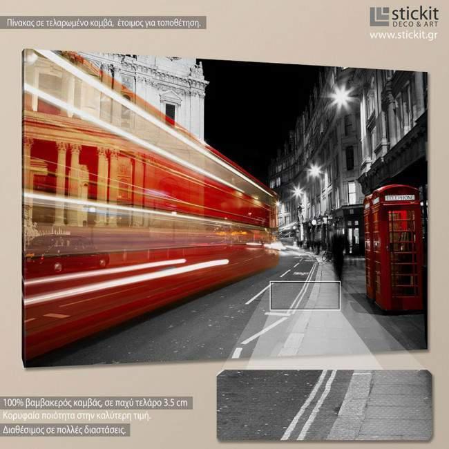Πίνακας σε καμβά Λονδίνο, London night view