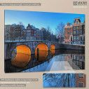 Canvas print Canals of Amsterdam