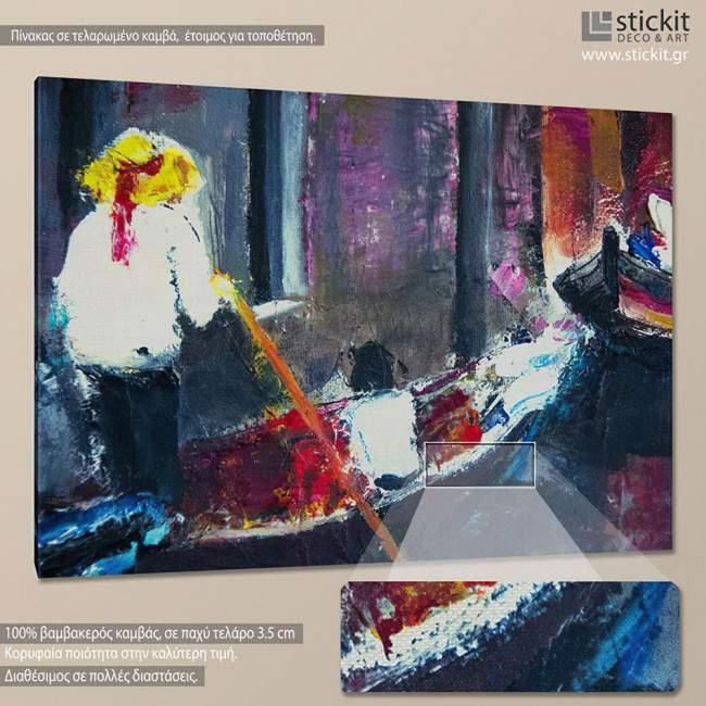 Πίνακας σε καμβά Γόνδολα, Venice gondolier