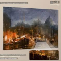 Πίνακας σε καμβά Βάρκες, Boats in harbor
