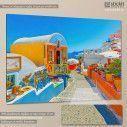 Πίνακας σε καμβά Colorful street in Oia