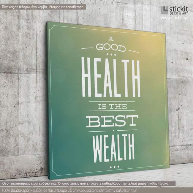 Canvas print A good health