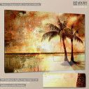 Canvas print Palm trees vintage