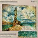 Canvas print Lighthouse vintage