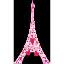 Ερωτας στον πύργο του Αιφελ Ροζ | Αυτοκόλλητο τοίχου, κοντινό