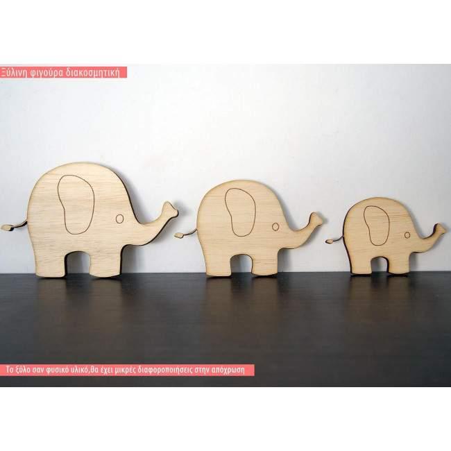 Ξύλινο Ελεφαντάκι διακοσμητική φιγούρα