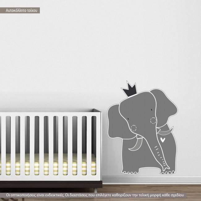 Kids wall stickers King elephant