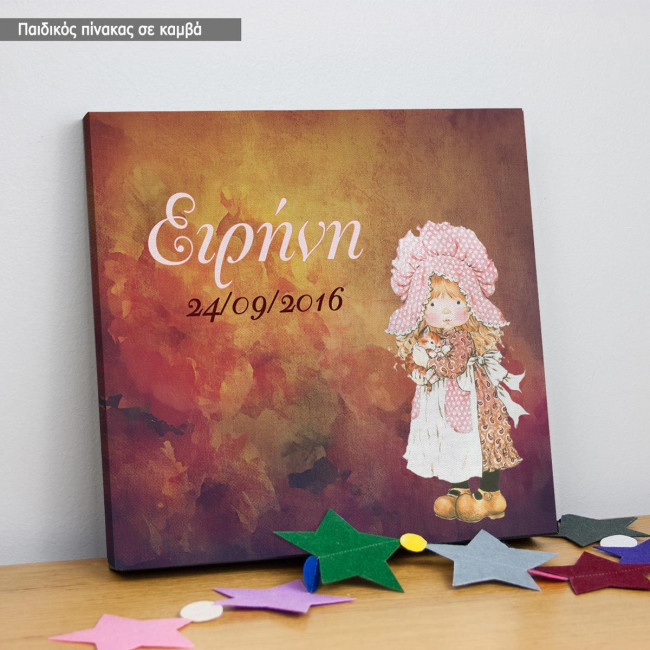 Kids canvas print Roses and tales