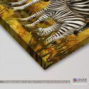 Kids canvas print Zebra scene