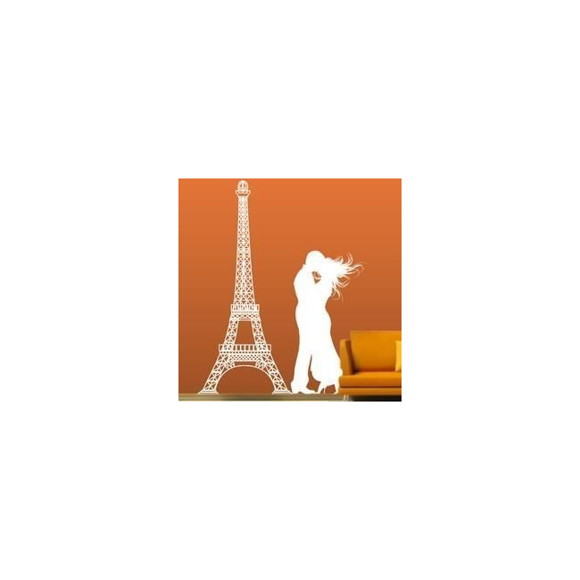 Wall stickers  Couple at the Eiffel Tower