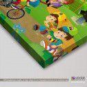 At the playground II, παιδικός - βρεφικός πίνακας σε καμβά, λεπτομέρεια