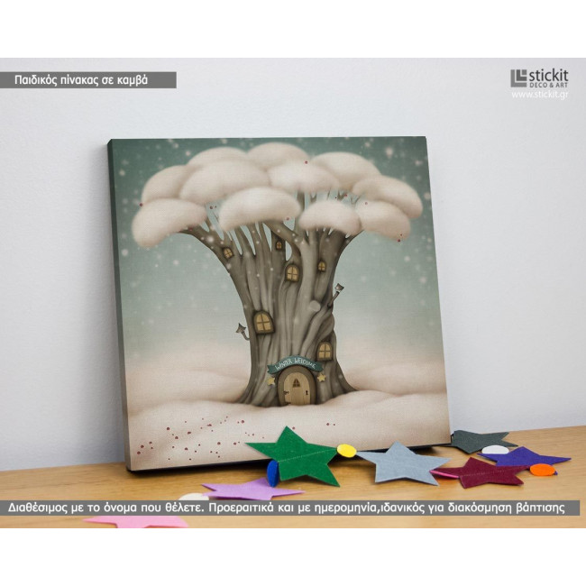 Kids canvas print Winter welcome