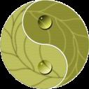 Γιν και  Γιάνγκ  αυτοκόλλητο τοίχου , κοντινό