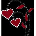 Καρδολούλουδο,  αυτοκόλλητο τοίχου