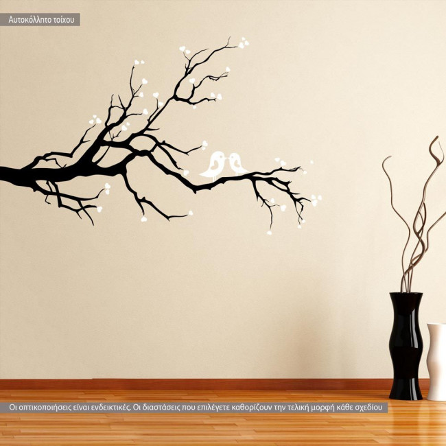 Wall stickers Birds of Love (Black White)