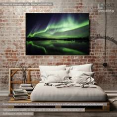 Canvas print Northern lights