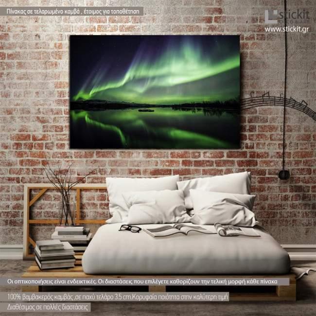 Canvas print Northern lights