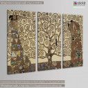 Canvas print Tree of life, Klimt Gustav,  3 panels, side