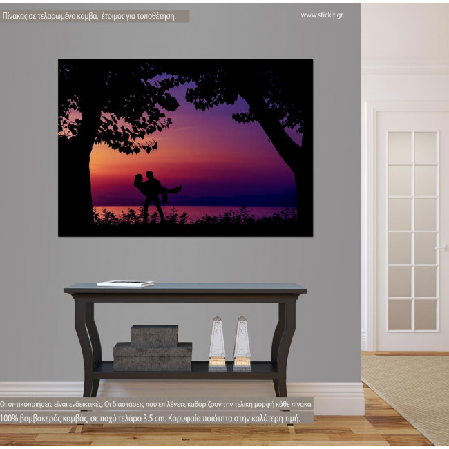 Canvas print Sunset lovers