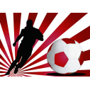 Wall stickers Footballer with red background