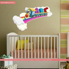 Kids wall stickers Rainbow Train