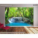 Wallpaper Deep forest waterfalls I