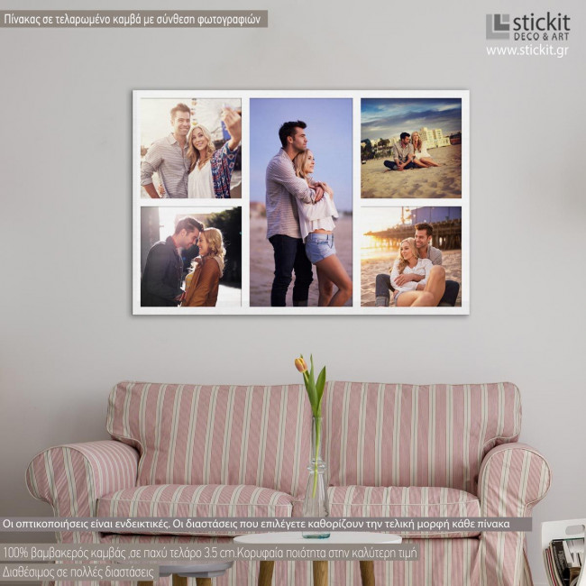 Canvas print Stickers labels Photos collage art I