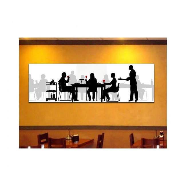 Canvas print Restaurant, panoramic