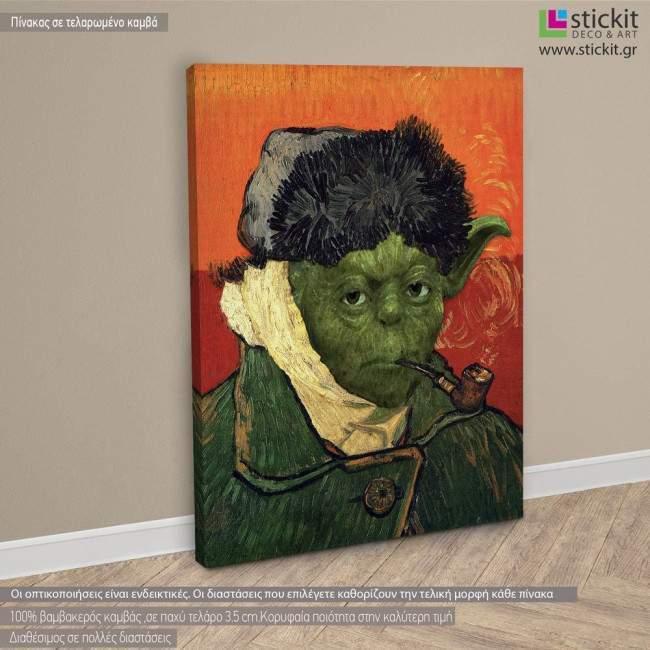 Πίνακας ζωγραφικής Self-portrait with bandaged ear (based on Self-portrait, 1889 by Vincent Van Gogh)