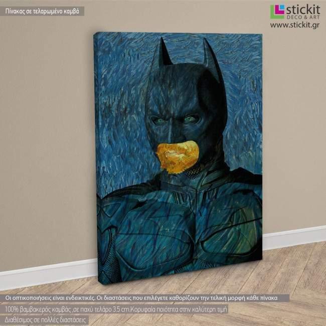 A bat's self portrait (based on Self Portrait by Vincent van Gogh) πίνακας σε καμβά