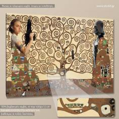 Tree of life's dark side reart (based on The Tree of life by G. Klimt) canvas print